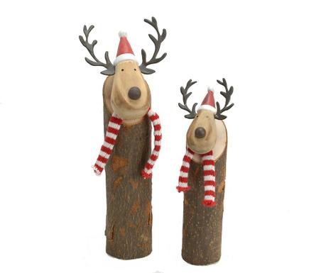 Zestaw 2 dekoracji Reindeer Scarf