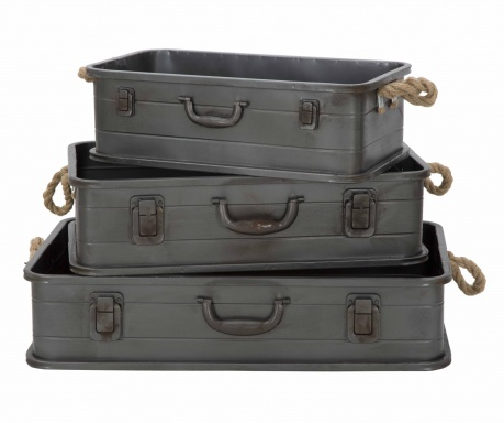 Zestaw 3  pudełek do przechowywania Industry