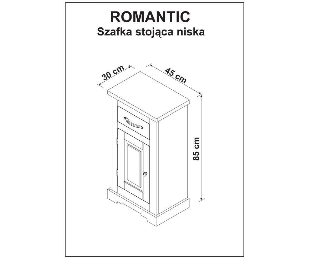 Dulapior pentru baie Romantic
