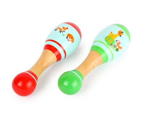 Zestaw 2 marakasów zabawkowych Little Fox