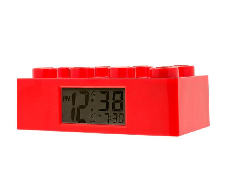 Budilka Lego Brick Monden Red