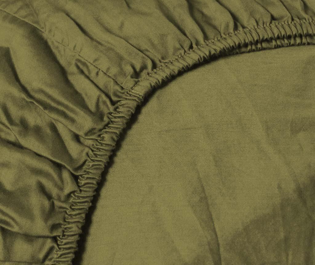 Plahta sa elastičnom gumicom Persey Burnt Olive 180x200 cm