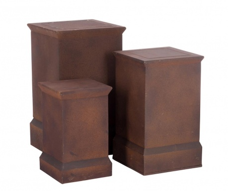 Zestaw 3 kwietników Pedestal
