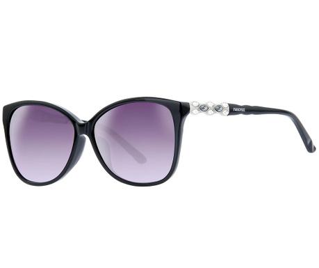 Ženska sončna očala Swarovski Rectangular Black