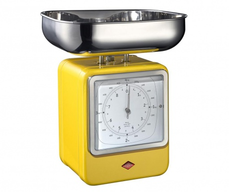 Waga kuchenna z zegarem Zadie Yellow