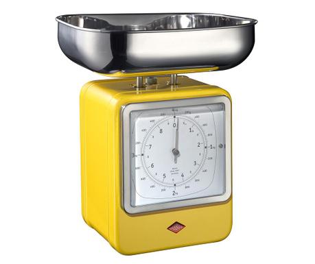 Kuchyňská váha s hodinami Zadie Yellow