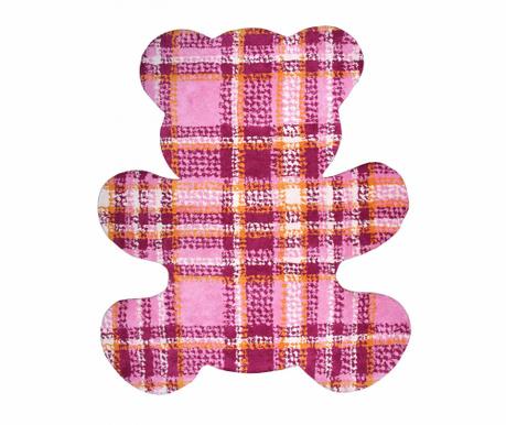 Dywan Teddy Tartan Pink 100x120 cm