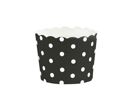 White Dots 24 db Muffin papír sütőforma
