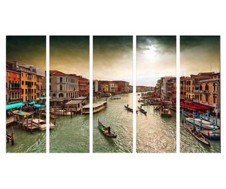 Комплект 5 картини Stormy Venice 30x90 см