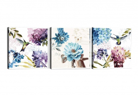 Set 3 slike Hummingbird 30x30 cm