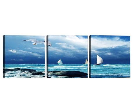 Seagull 3 db Kép 30x30 cm