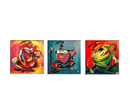 Set 3 tablouri Coffee Time 30x30 cm