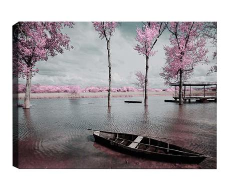 Tablou 3D Lone Boat 50x70  cm