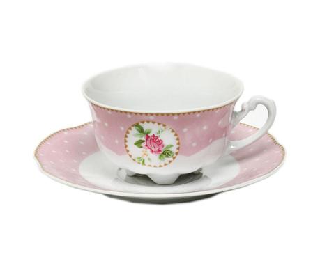 Комплект чашка и чинийка Bolero Rosa Mia