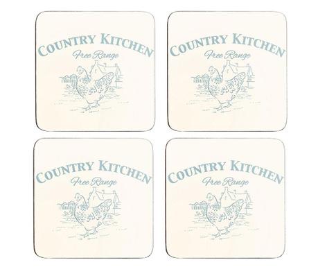 Set 4 podstavkov Country Kitchen