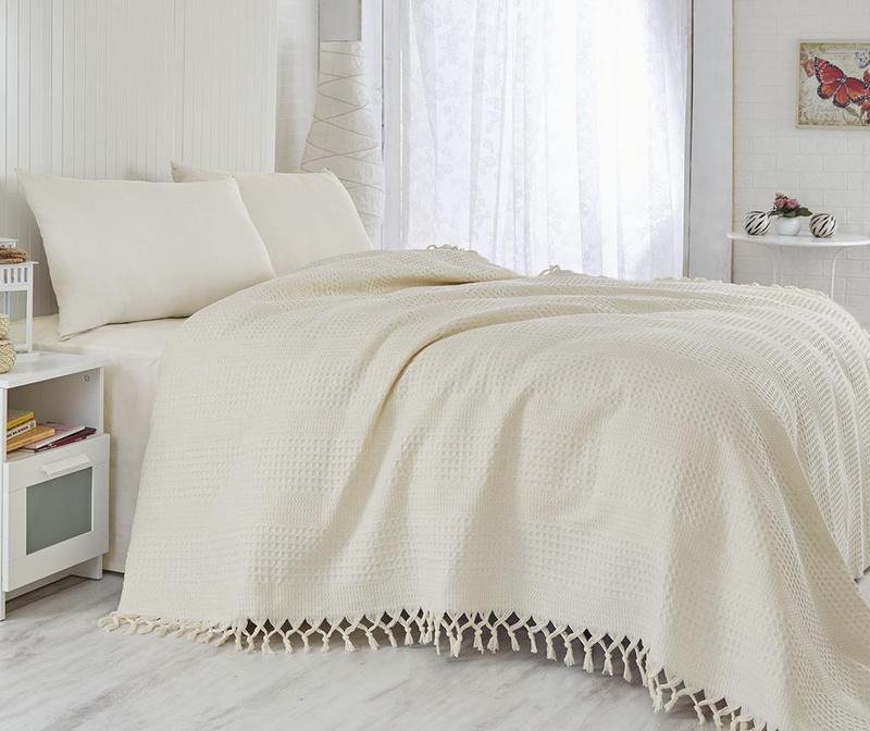 Prekrivač Pique Vulsky Cream 180x240 cm