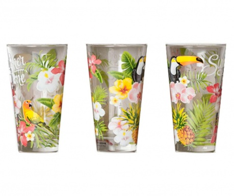 Set 3 pahare Summer time 330 ml
