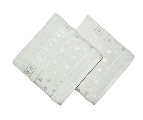 Zestaw 2 ręczników kąpielowych Spring Cream 50x90 cm