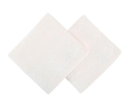 Zarif White 2 db Fürdőszobai törölköző 50x90 cm