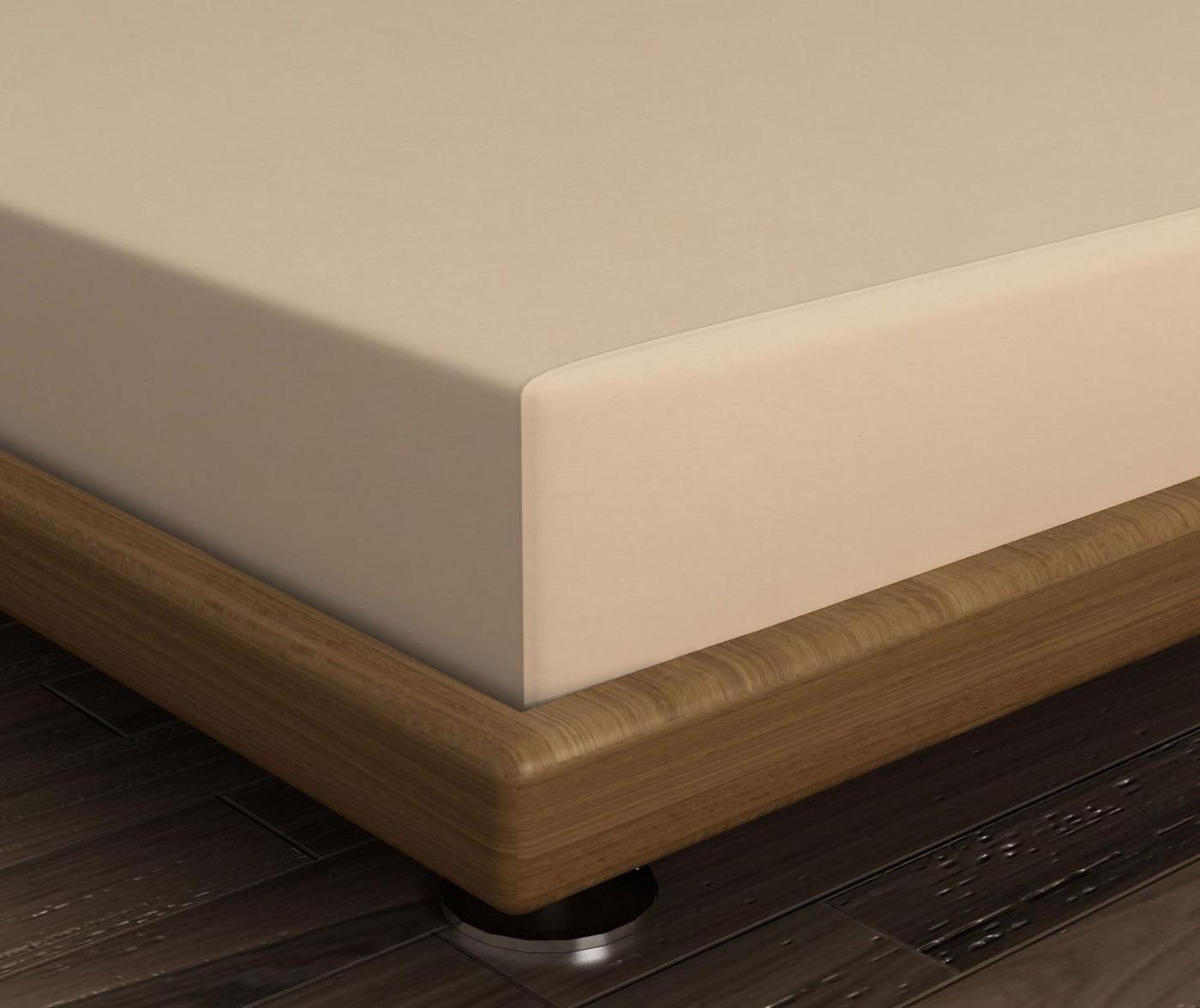 Cearsaf de pat cu elastic Mini Beige 180x200 cm