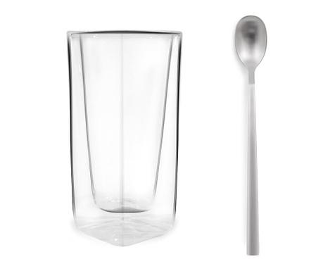 Set kozarca za cocktail in žlice Simple 300 ml
