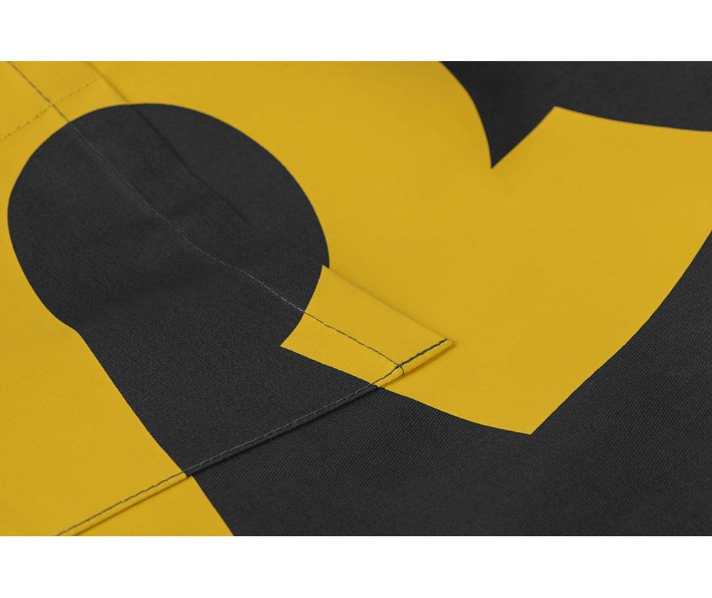 Kuhinjska pregača Black Yellow
