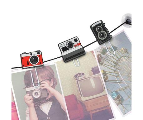 Sada 6 klipsů s přísavkou Cameras