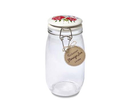 Floral Romance Befőttesüveg   hermetikus  fedővel 1.5 L