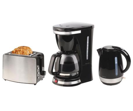 Trzyczęściowy zestaw sprzętu AGD do śniadania Matinal