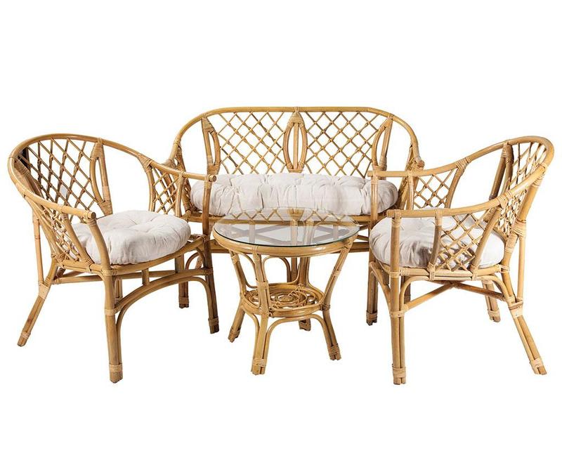 Set mobilier pentru exterior 4 piese Gala