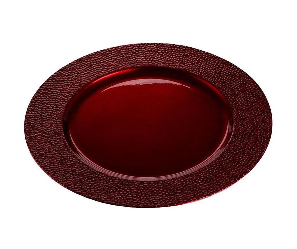 Pebble Dark Red Dísztál
