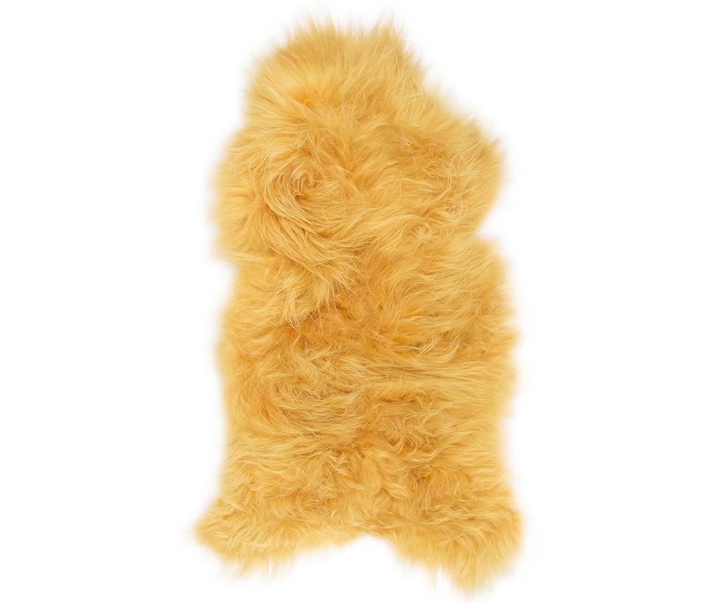 Janjeće krzno Icelandic Long Golden Yellow 50x90 cm