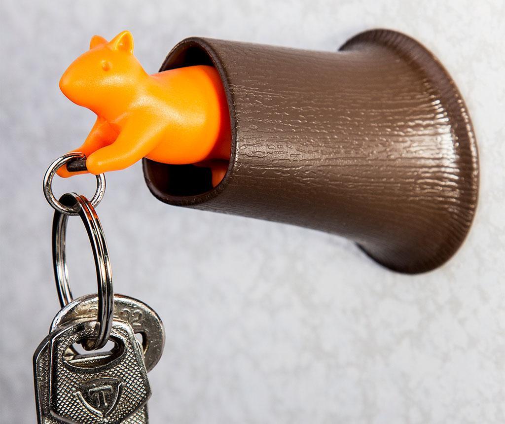 Set breloc si suport pentru chei Squirrel Brown Orange