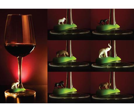 Set 6 marcatoare pentru pahare Hot Animal