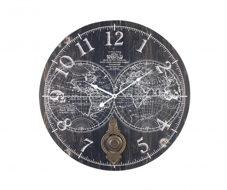 Nástěnné hodiny s kyvadlem Map