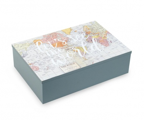 Úložná krabice s víkem The World