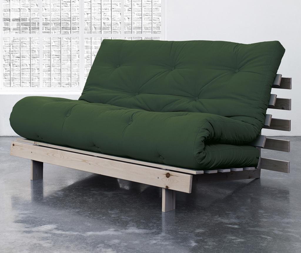 Sofa extensibila Roots Wide Natural and Botella Green