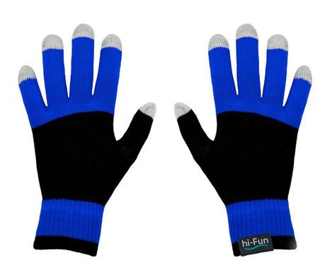 Manusi Touchscreen barbati hi-Glove Knit Blue
