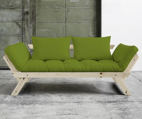Sofa extensibila Bebop Natural & Lime