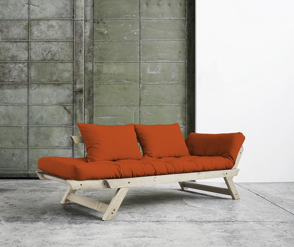 Sofa extensibila Bebop Natural and Orange