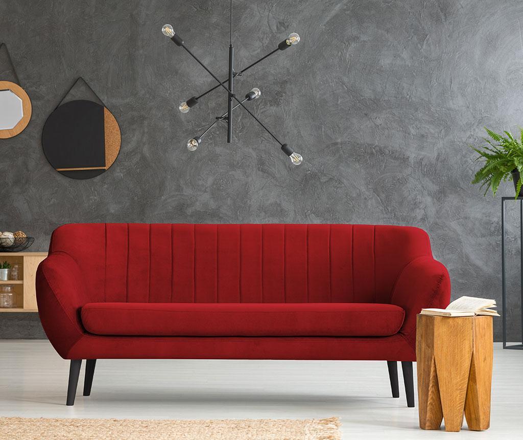Canapea 3 locuri Toscana Red