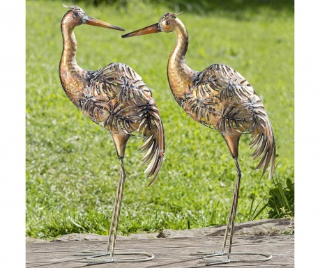 Sada 2 záhradných dekorácií Crane Bali