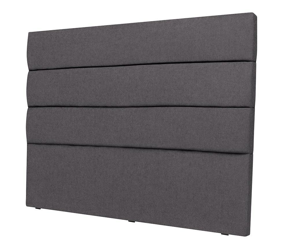 Tablie de pat Pesaro Dark Grey 120x140 cm