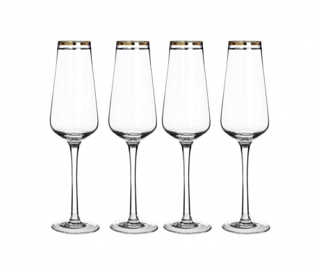 Set 4 kozarcev za šampanjec Charleston 270 ml