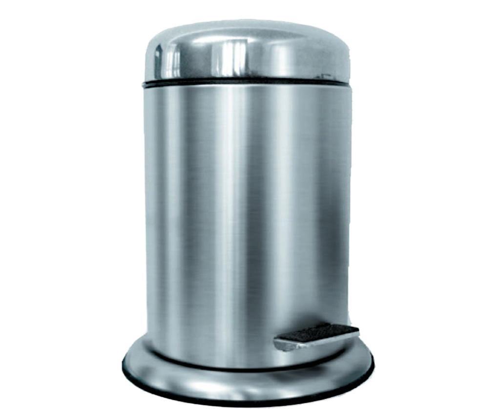 Cos de gunoi cu capac si pedala Padox Silver