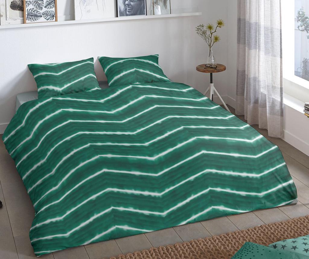 Set de pat Single Ranforce Batik Green