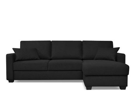 Coltar extensibil reversibil Milano Black