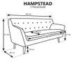 Canapea 3 locuri Hampstead Grey