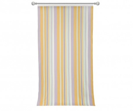 Zasłona Stripes Light Blue Yellow 140x270 cm
