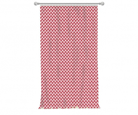 Draperie Chevron Red 140x270 cm